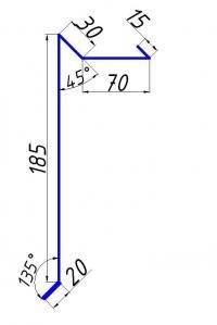Фартук фронтонный удлиненный 185х70