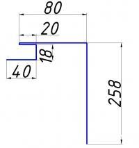 Рейка откоса для линеарных вентфасадов