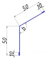 Угол внутренний для защиты угловых стыков 50х50