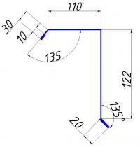 Ветровая планка широкая 110х122
