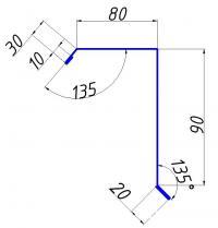 Ветровая планка стандарт 80х90